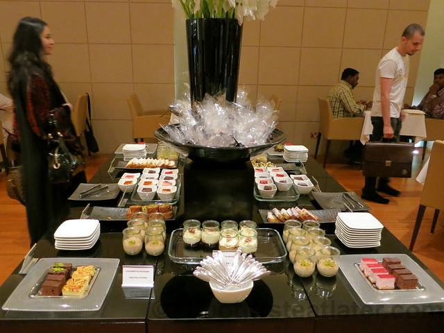 Qatar Airways Business Class Lounge at Doha International Airport- desserts