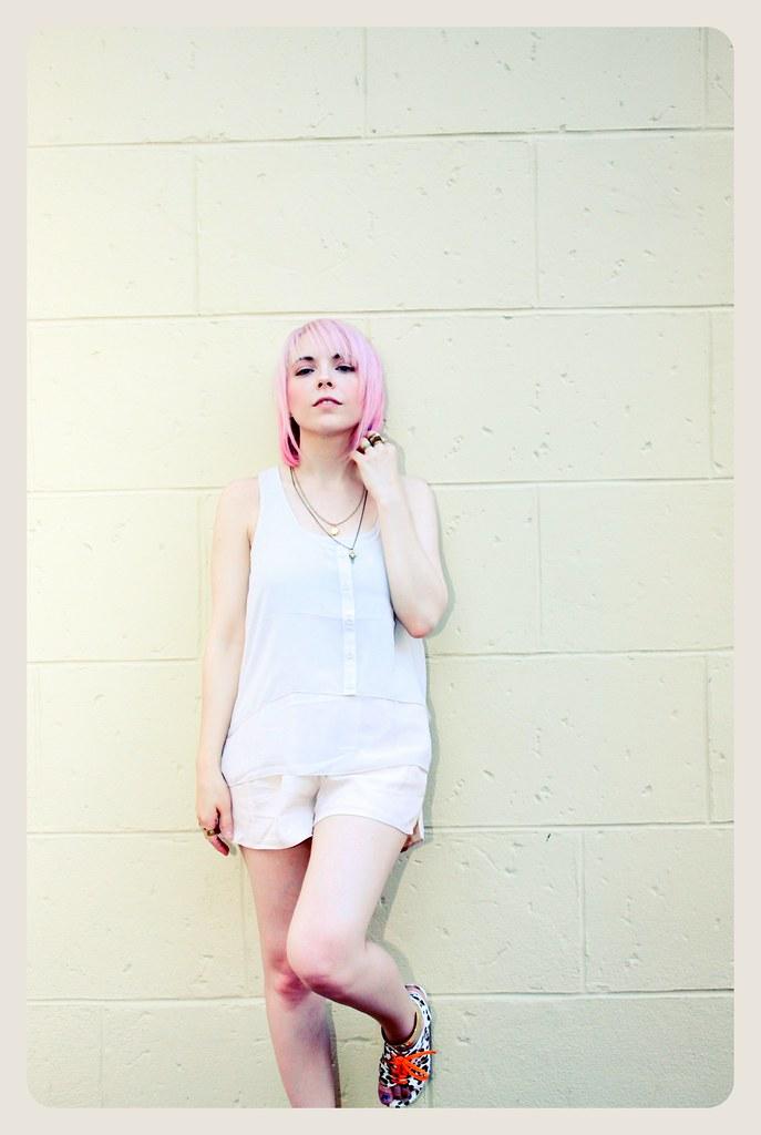 pastel hair pink hair haircut summer h&m