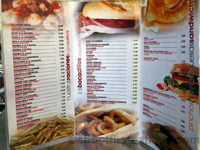 La Ochava's menu-001