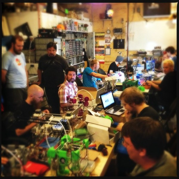 A 3d printer build-a-thon! 11 Tantillus printers in one place!