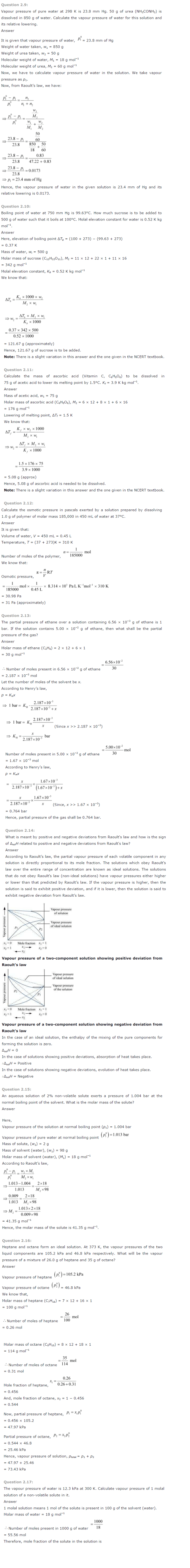 Class 12 Chemistry Chapter 2: Solutions