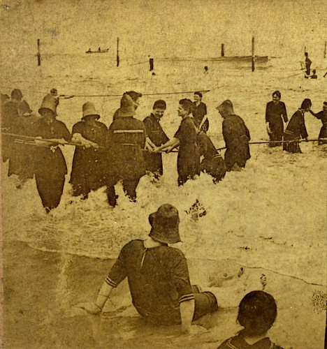 1896 Surf Bathers on a New Jersey beach