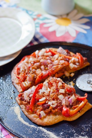 Peppers & Onion Flatbread