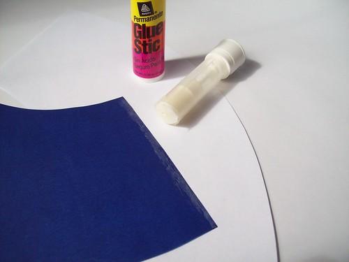 glue stick edge of one side