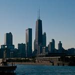 Chicago skyline featuring Hancock Tower