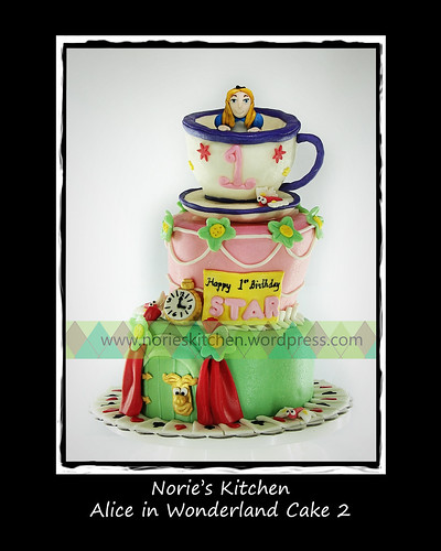 Norie's Kitchen - Alice in Wonderland Cake 2 by Norie's Kitchen