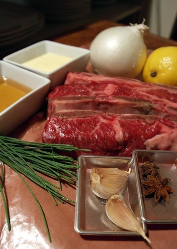 Ingredients for the Honey Braised Short Ribs