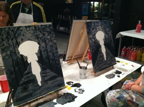 getting there: painting with a friend