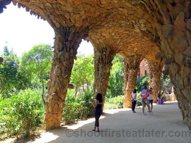 Park Güell- viaduct of the museum