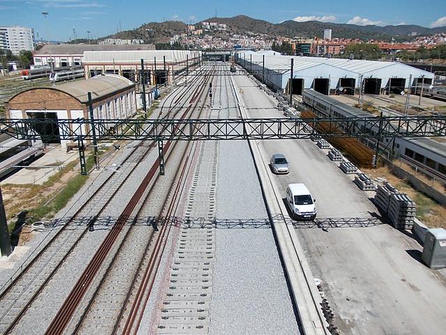 Zona Talleres Renfe en Sant Andreu - 01-09-12