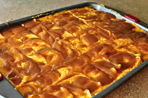 Pumpkin Cinnamon Roll Sheet Cake