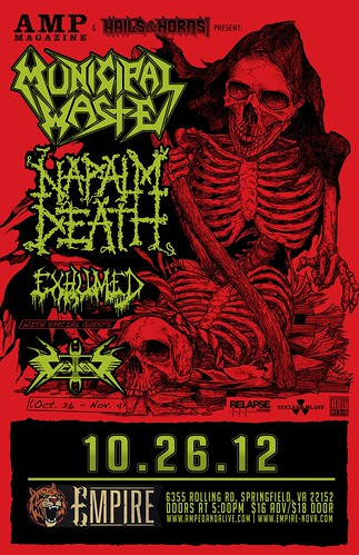 Municipal Waste and Napalm Death at Empire
