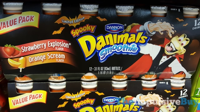 Limited Edition Dannon Spooky Danimals Smoothie