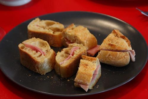 Jambon et fromage baguette