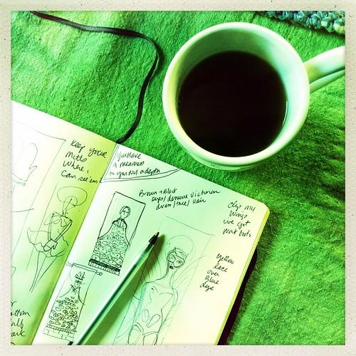 am sketching / brainstorming