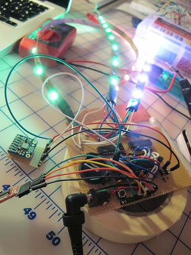 Barometric skirt: long day of wire stripping, soldering, swearing, desoldering & soldering again!