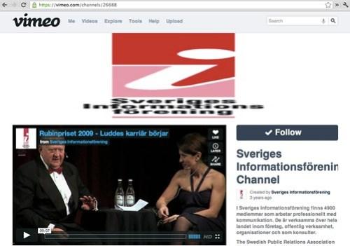 Sveriges Informationsförening på Vimeo