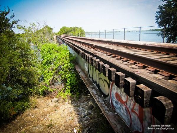 A Train Trestle in Rowlett Texas