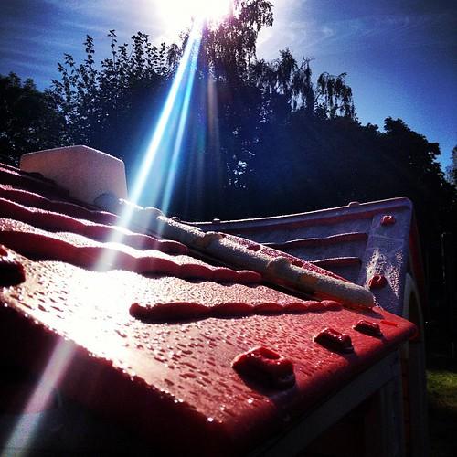 Ray of light en toch ligt het huisje intussen op het stort ...