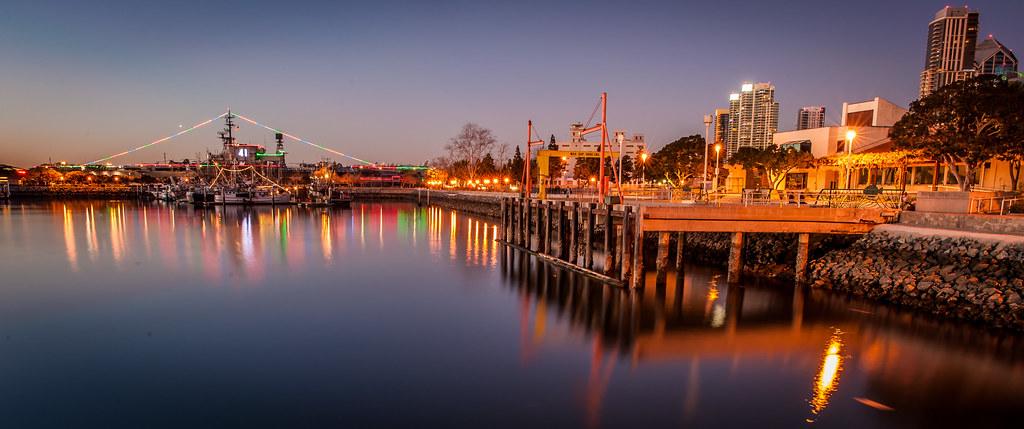 Seaport Village Night Pano
