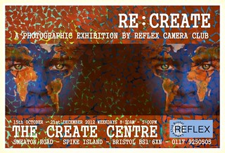 Re:Create exhibition poster by Myk Garton for Reflex Camera Club