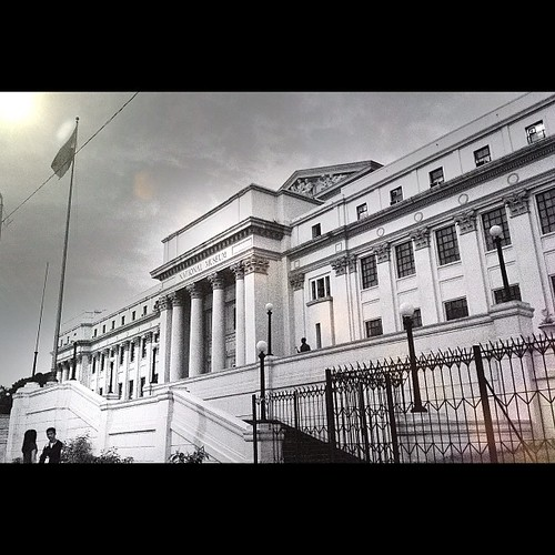 National Museum. Manila, Philippines. Taken 9.19.12. #iphone4s #iphoneonly #iphoneography #monochrome #blackandwhite #lensflare #snapseed #philippines #manila #igersasia #igersmanila #instaphilippines #instagood #instamood #museum #awesomeshots #photoofth