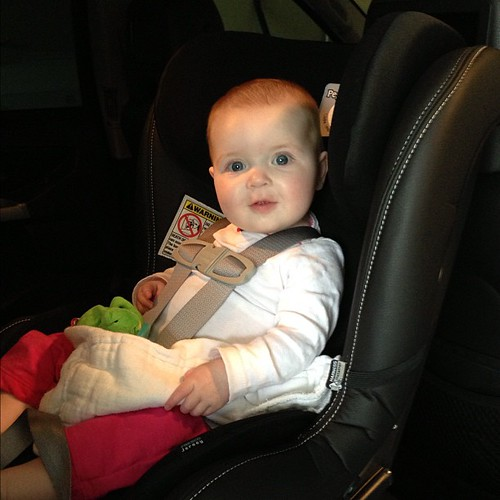 Katie loves her new convertible car seat!