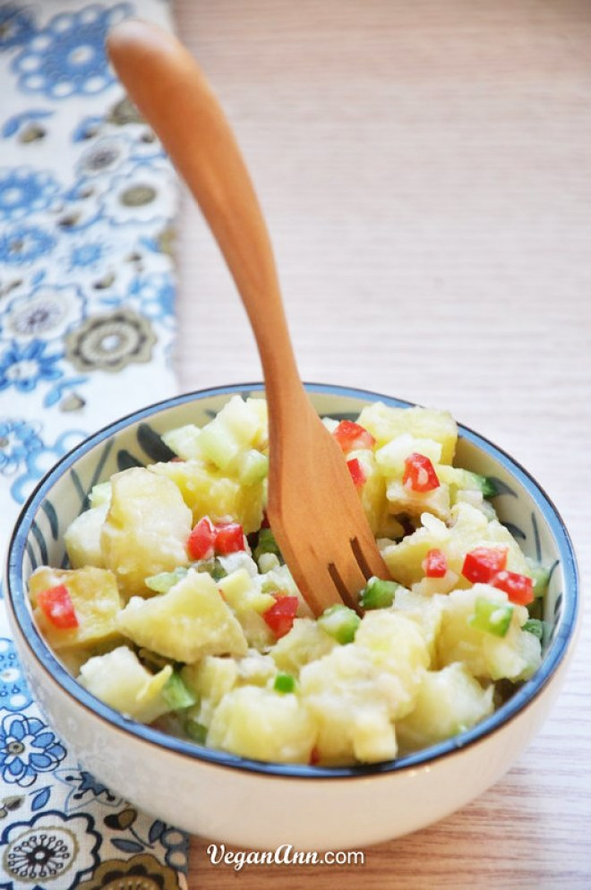 Potato Salad with Homemade Vegan Mayonnaise 1