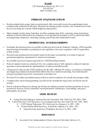 Federal Resume Guidelines. Resume Resume Examples And Federal On