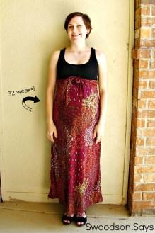 DIY Maternity: Maxi Dress to Maternity Skirt - Swoodson Says
