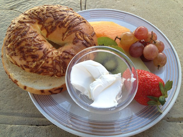 Asiago cheese bagel - Park Rock Cafe