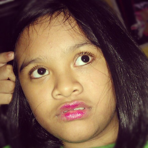"""""""But Mommy, I did not play with your lipstick? Who told ypu that?"""""""