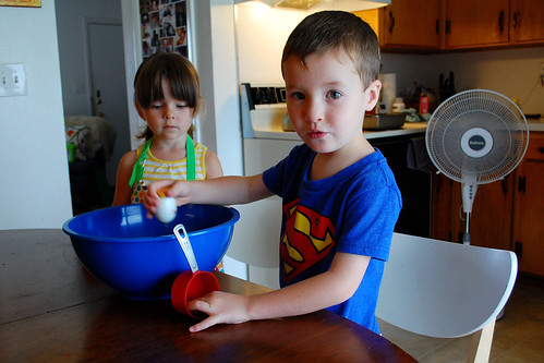 Making cupcakes with Max.