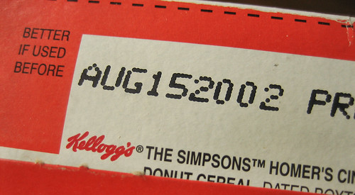 Limited Edition Kellogg's The Simpsons Homer's Cinnamon Donut Cereal Date