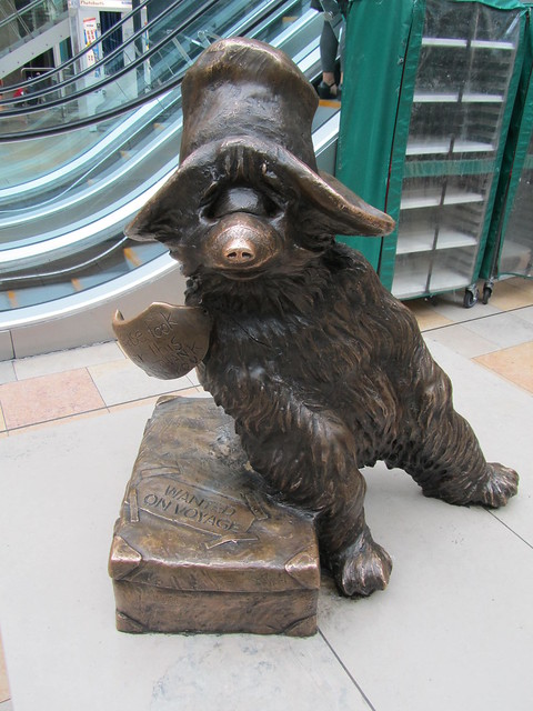 Paddington bear at Paddington Station