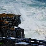 A splash in the sea