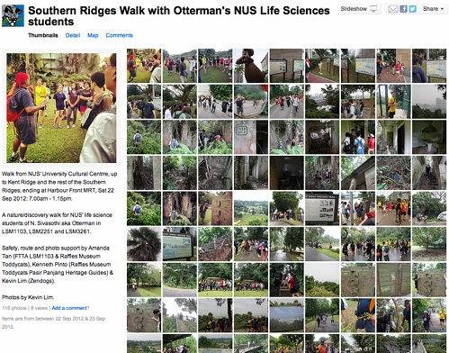 Southern Ridges Walk with Otterman's NUS Life Sciences students - a set on Flickr