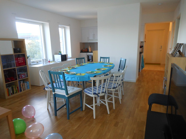 Lägenheten innan kalaset