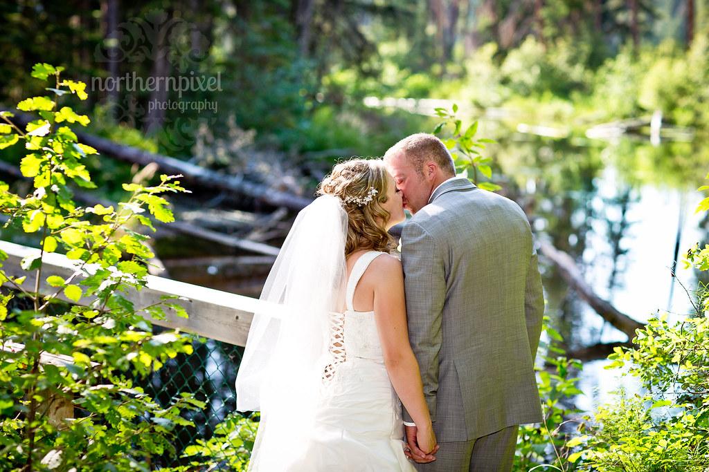 Newlywed Photos - Berman Lake BC
