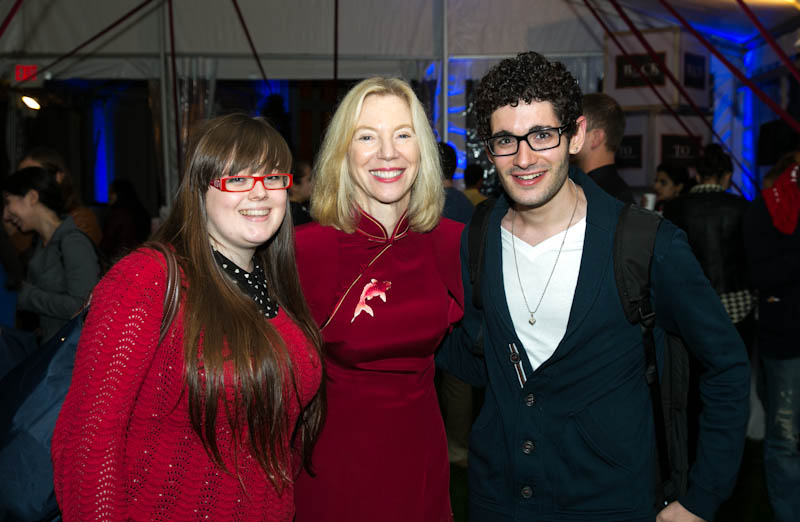 From Left: Simone Park, Amy Gutmann and Michael Altit