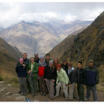 Our trek group at top of Dead Woman's Pass