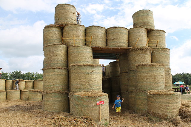 Hay Bale Fort