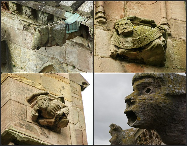 Carvings at Melrose Abbey, Scotland