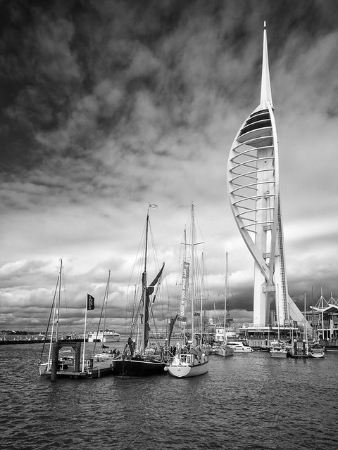 Spinnaker Tower across the harbour