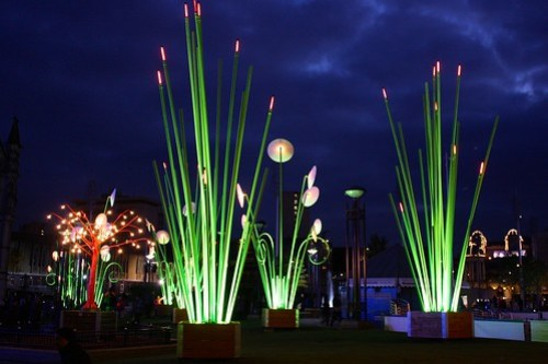 Garden of Light in City Park, Bradford