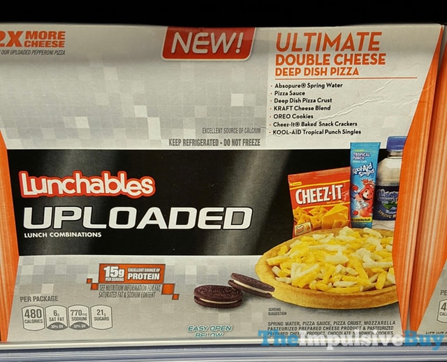 Lunchables Uploaded Ultimate Double Cheese Deep Dish Pizza