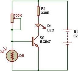 Dark/Light sensor using transistor – BuildCircuit COM