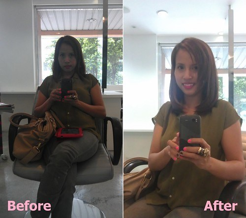 before and after macademia natural oil hair treatment
