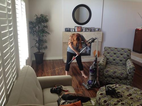 vacuuming myself