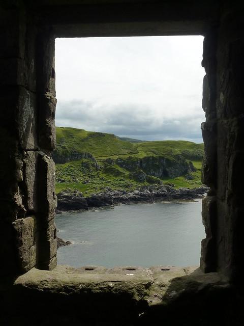 Looking Through A Window At Gylen Castle Flickr Photo